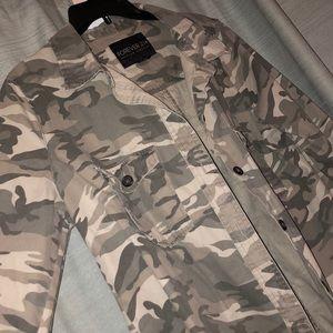 Camo button up shirt